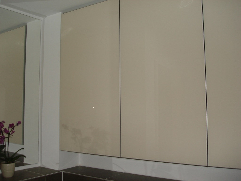 Bathroom painted glass cabinet 1