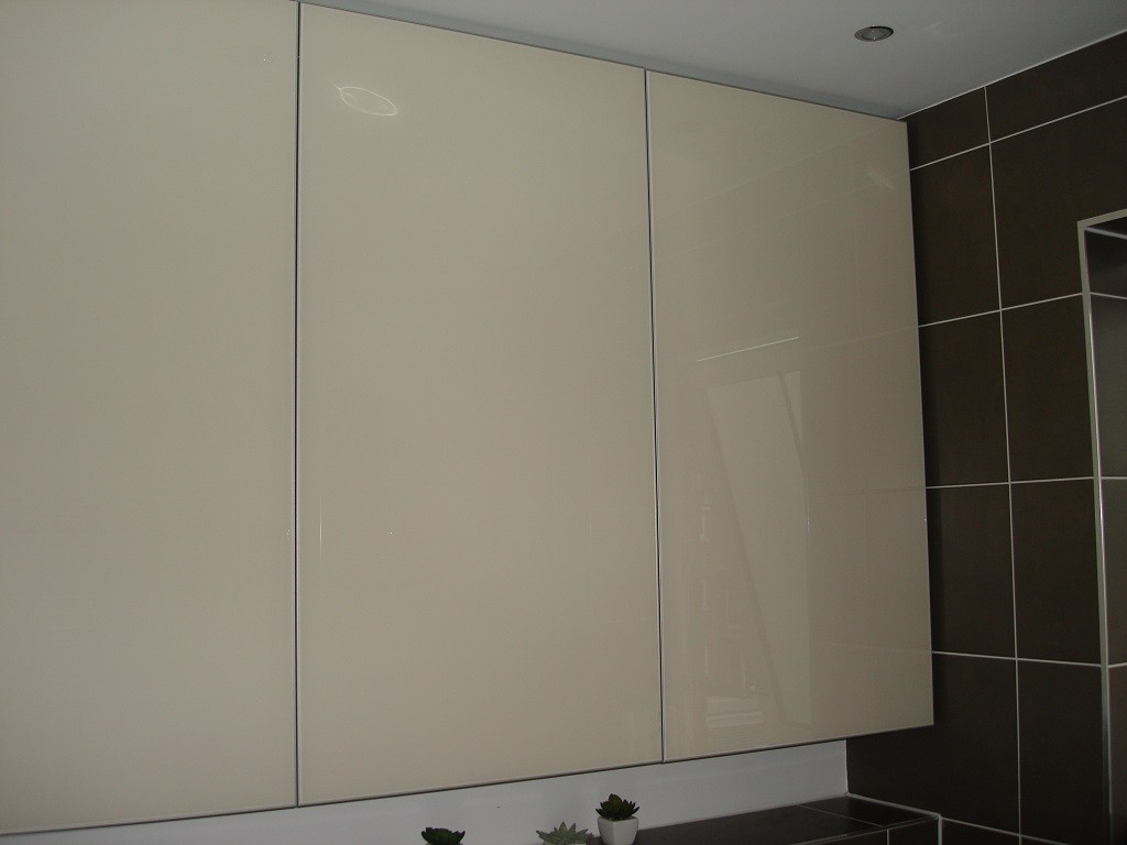 Bathroom painted glass cabinet 2