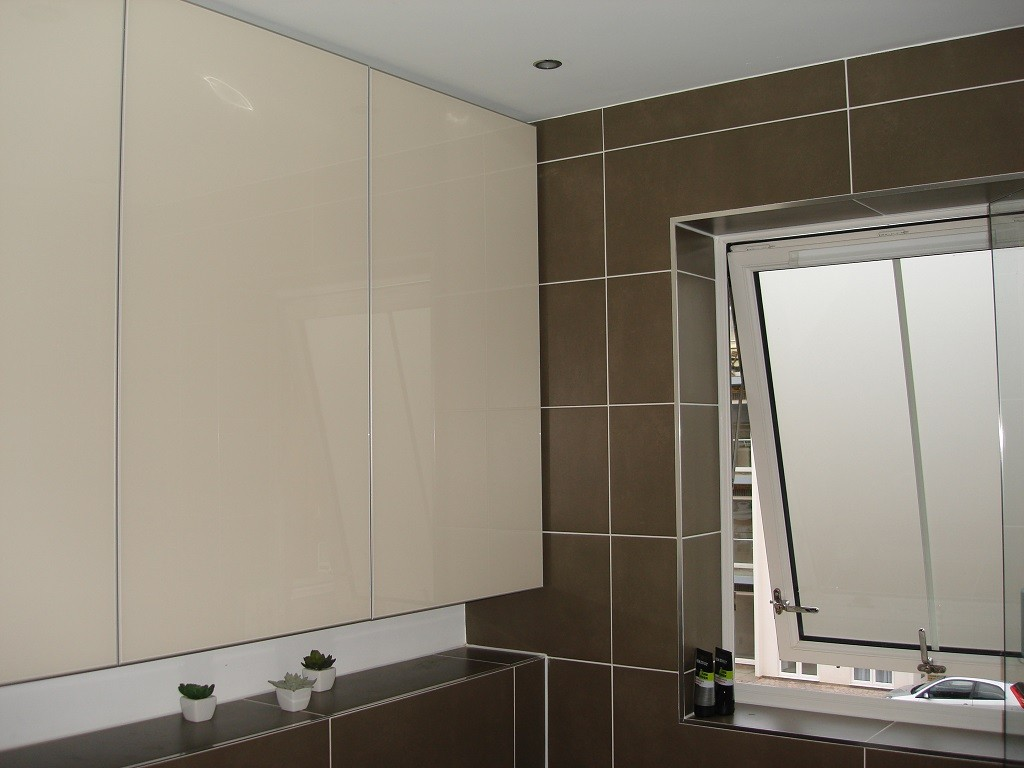 Custom Made Luxury Bathroom Painted Glass Cabinets ...