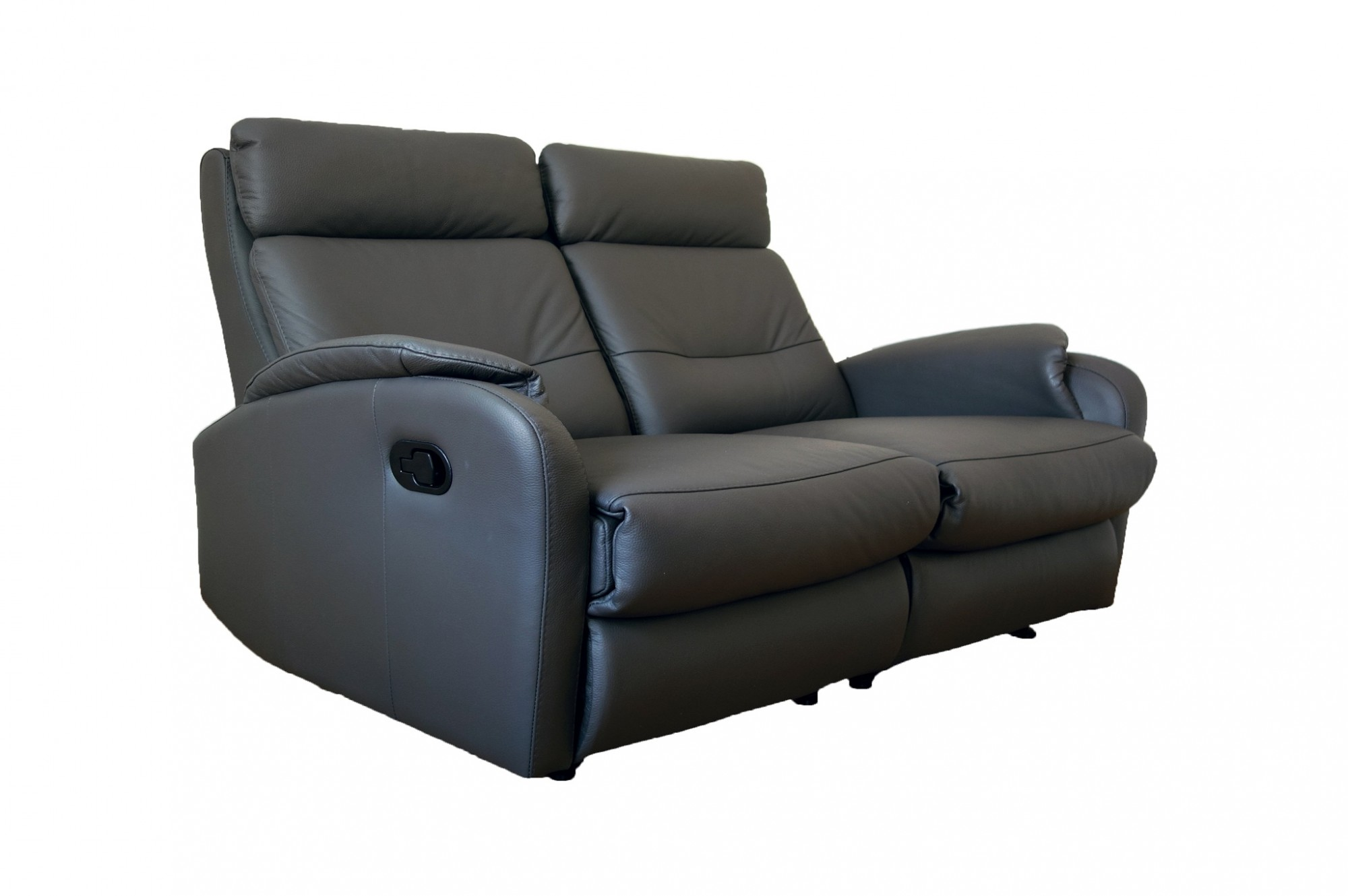 Caro leather reclining 2 seater sofa