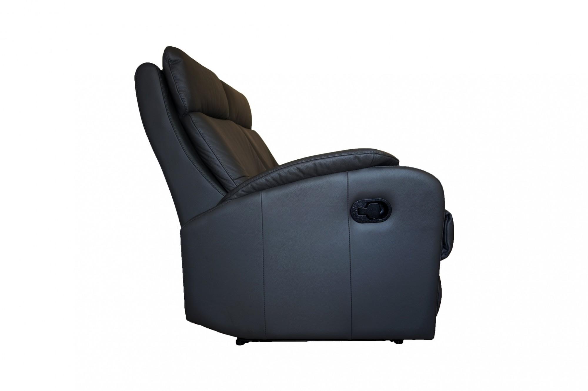 Caro leather reclining 2 seater sofa
