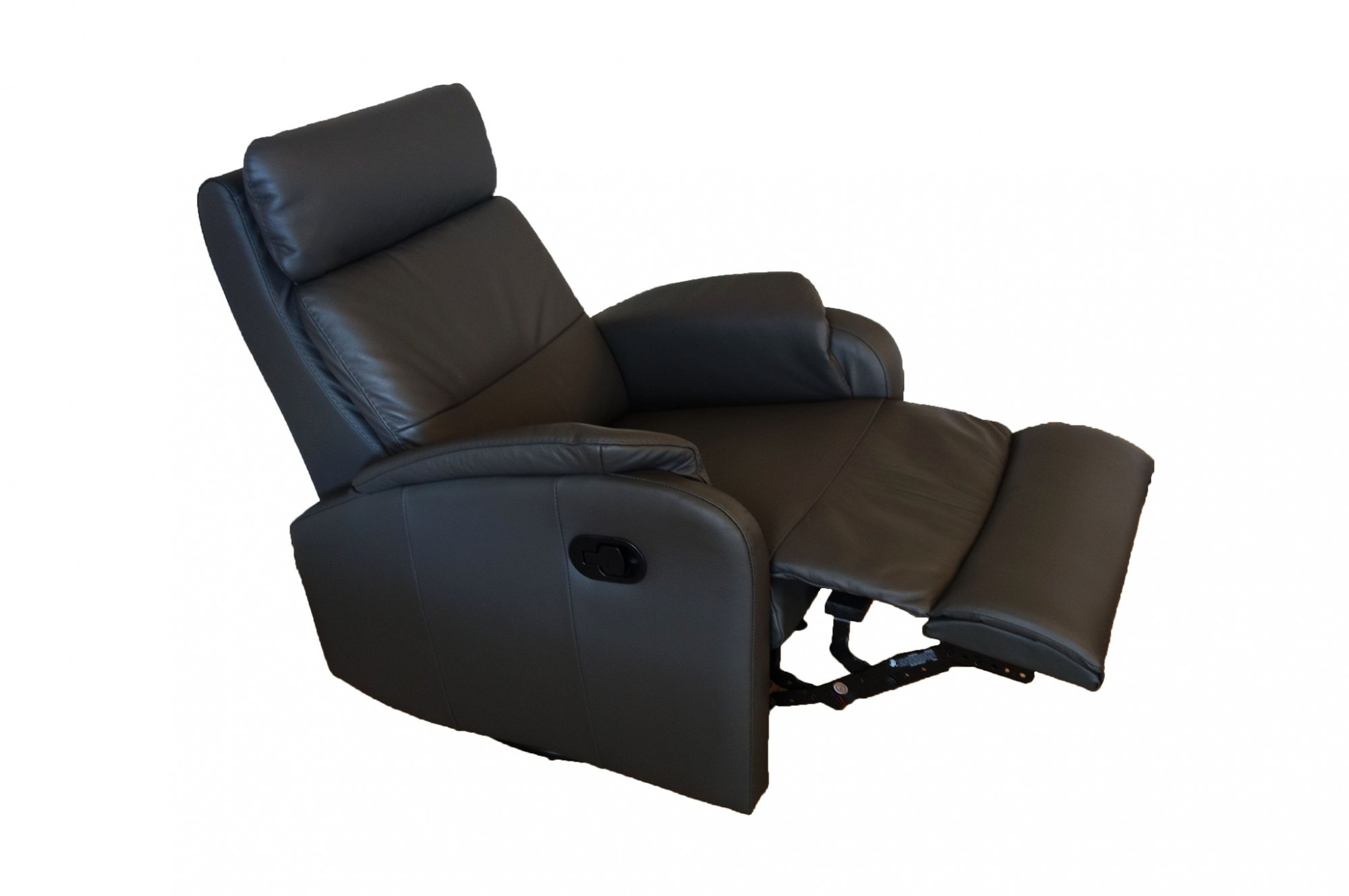 Caro black leather reclining armchair