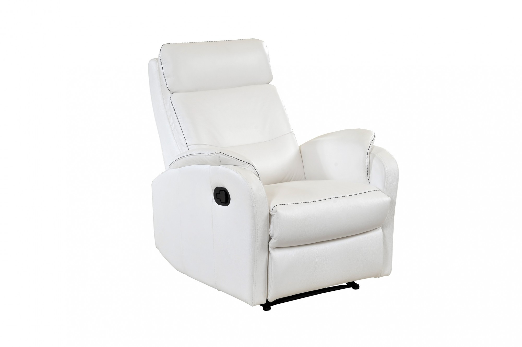 Caro white leather reclining armchair