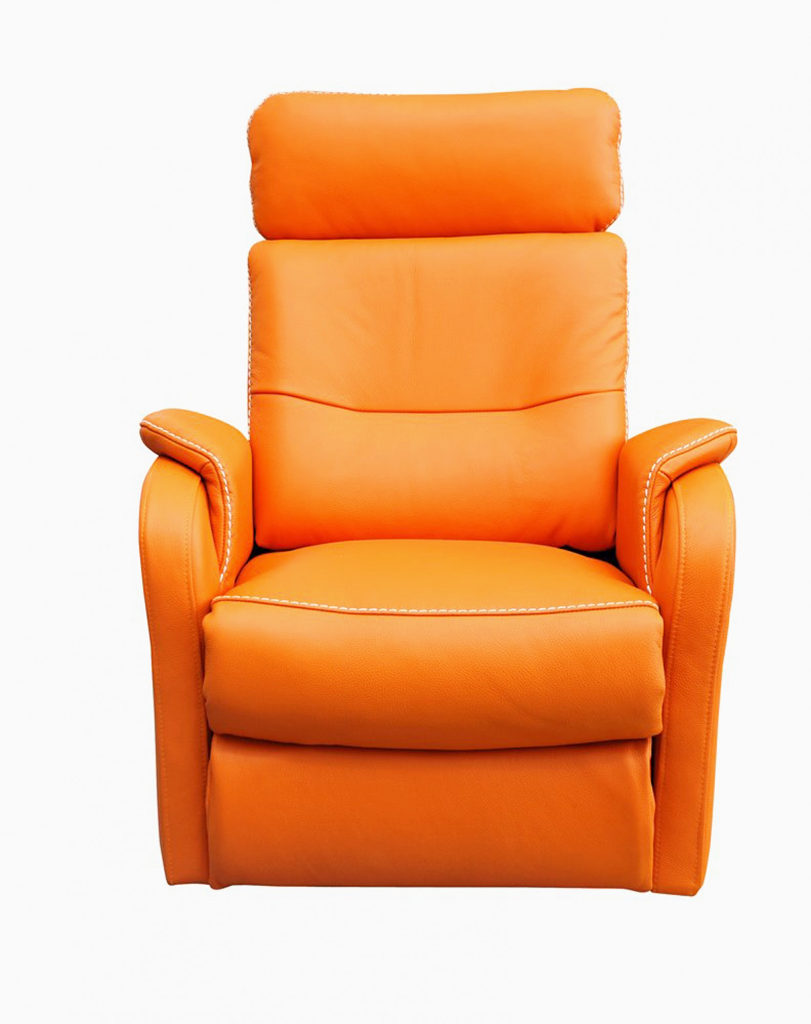 Caro leather reclining armchair