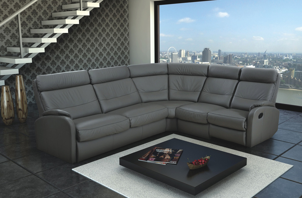 Corner sofa bed and recliner - Caro - Glossy Home
