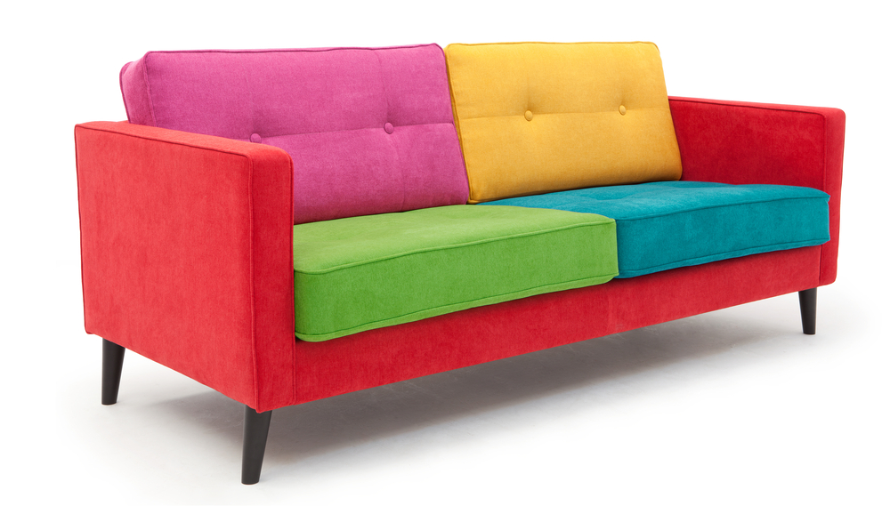 A Multi Coloured Contemporary Custom Made Sofa